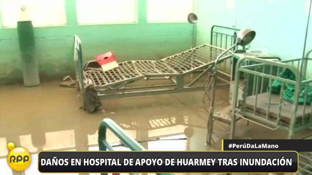 Así luce el Hospital Nacional de Apoyo de Huarmey tras la inundación del último jueves