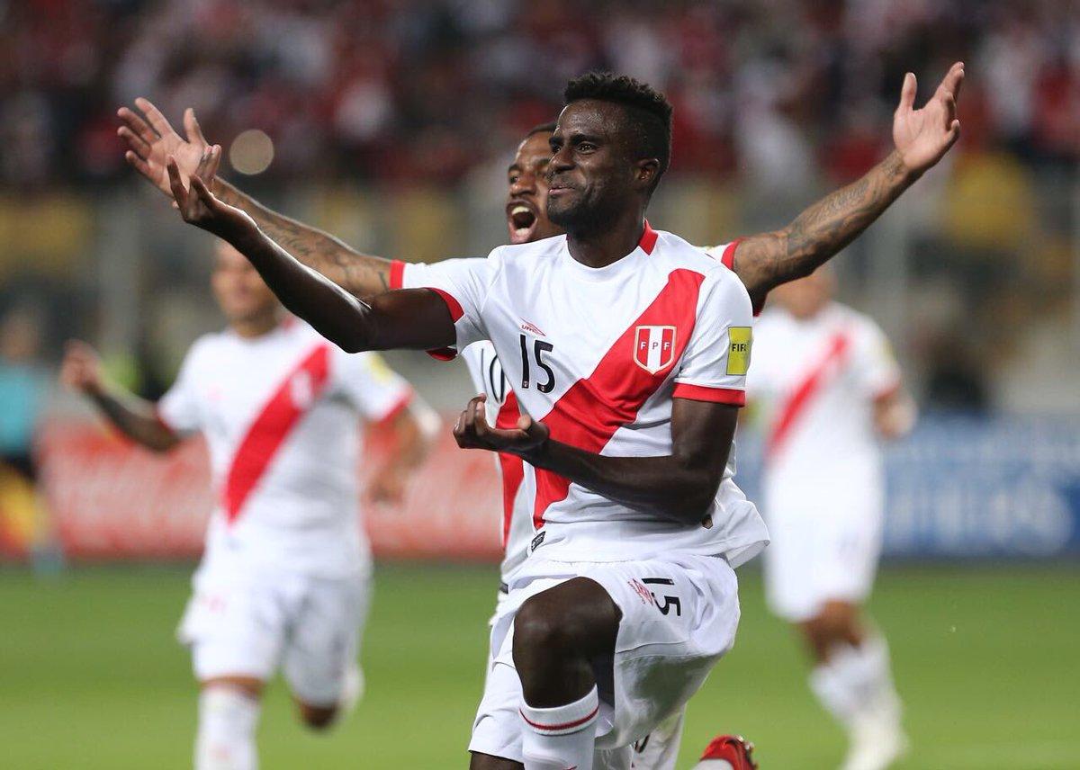 Así celebró el gol Christian Ramos el segundo gol peruano.